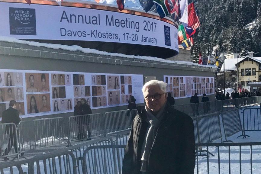 Prof. Zühlke beim Weltwirtschaftsforum in Davos
