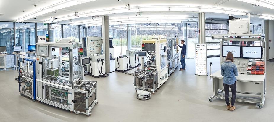 Der modulare Aufbau der SmartFactoryKL-Industrie 4.0-Partneranlage