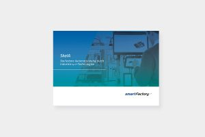 """Cover of the flyer about the demonstrator """"SkalA"""" from SmartFactoryKL"""