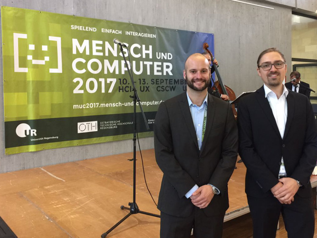 "At the conference ""Mensch und Computer"" (Humans and Computers) in Regensburg, our researchers presented their latest results on human-machine interaction."