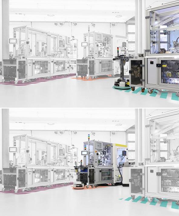 Modulares Safety-Konzept erhöht Flexibilität beim Anlagenumbau SmartFactoryKL Hannover Messe