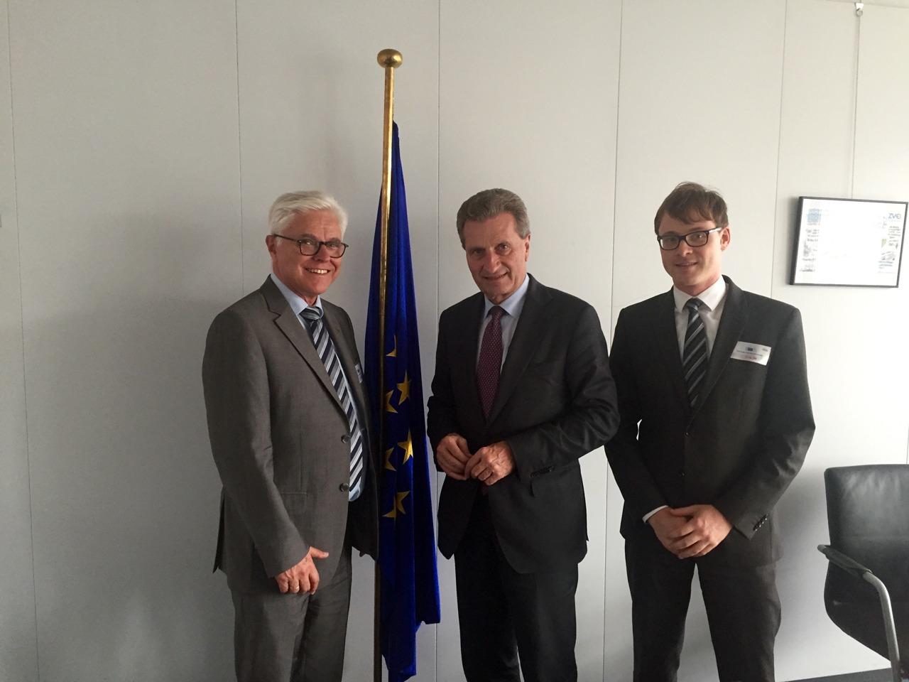 Prof. Zühlke zu Beratungsgespräch bei EU-Kommissar Günther Oettinger in Brüssel