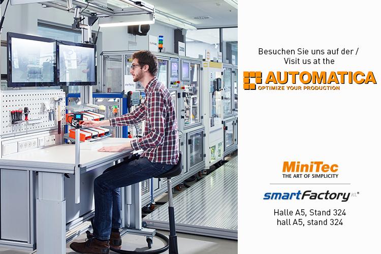 SmartFactoryKL und MiniTec auf der Automatica 2016