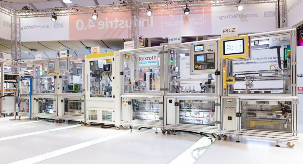 Der Anlagenaufbau zur Hannover Messe 2015