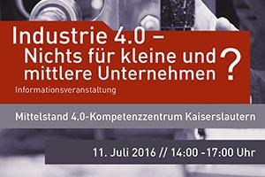 Erste Veranstaltungen des Mittelstand 4.0-Kompetenzzentrum Kaiserslautern