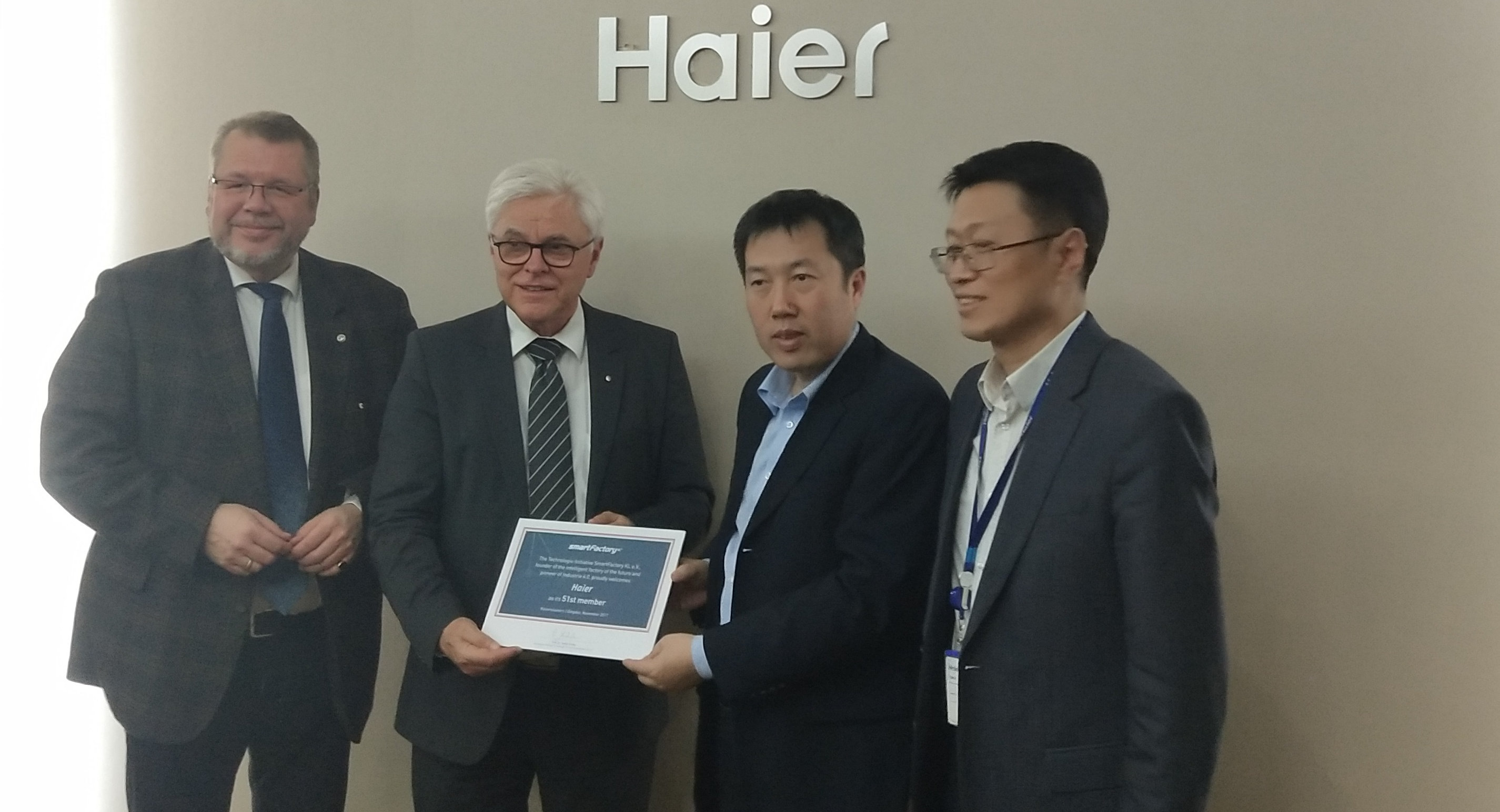 Haier new member of SmartFactory-KL