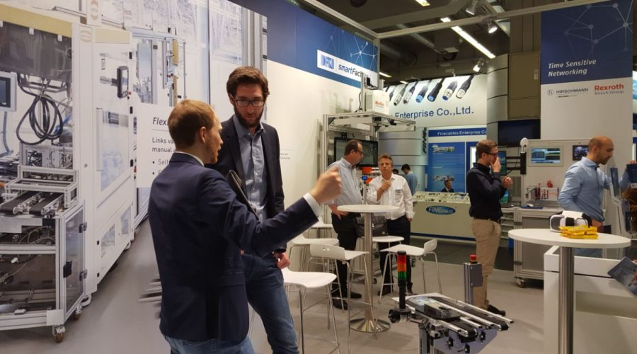 The SmartFactory-KL booth at the 2017 SPS IPC Drives Nuremberg