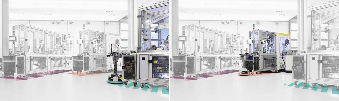 Modulares Safety-Konzept erhöht Flexibilität beim Anlagenumbau SmartFactory-KL Hannover Messe