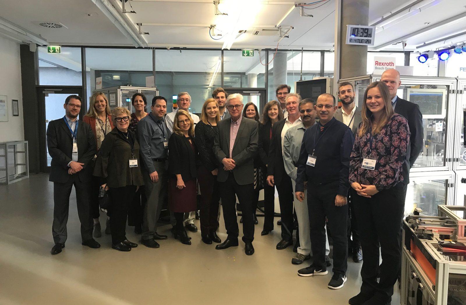 US-Delegation besucht die Geburtsstätte von Industrie 4.0