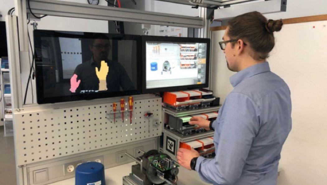Tests im Anwendungsszenario: Werkerassistenz durch die Partner SmartFactoryKL, Bosch Rexroth und CanControls.