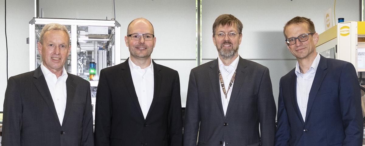 Der Vorstand der SmartFactoryKL, Foto: Alexander Sell
