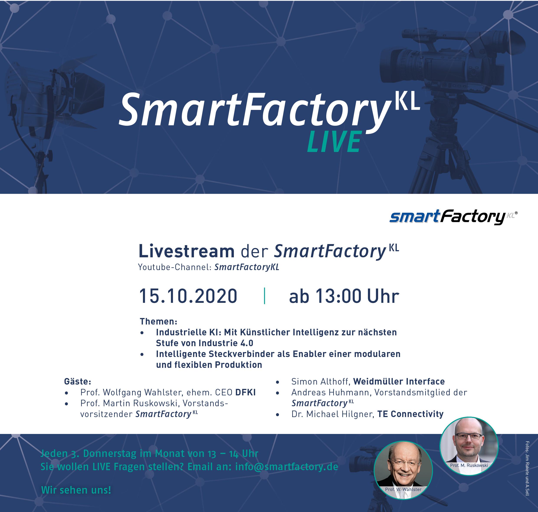 SmartFactory-KL LIVE am 15.10.20 ab 13 Uhr