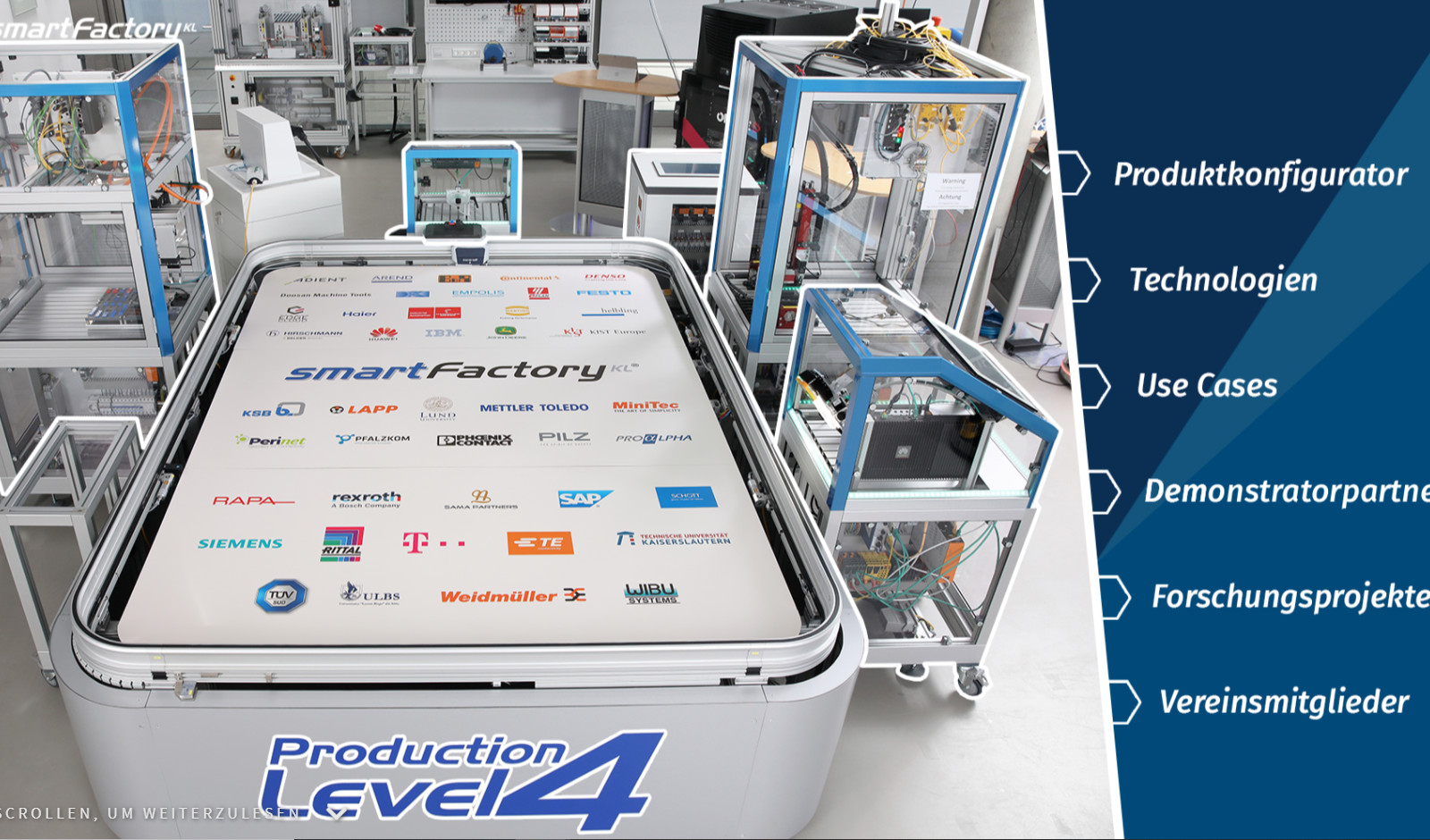 Unser Production Level 4 – Demonstrator interaktiv